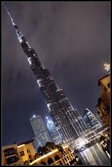 Dubai Burj Khalifa (J-o-h-n---E) Tags: travel uae dubai tower burjkhalifa burjkhalifatower burjdubai night lights tall skyscraper