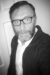 In need of a shave 😉😉😉... (deanthompson3) Tags: shave whiskers whiteblack blackwhite selfie flickr thompson dean deanthompson