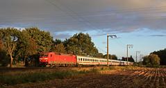 Die Sonne war gerade raus (Klaus Z.) Tags: eisenbahn kbs 395 eisinghausen br 120 intercity ic db fernverkehr personenzug