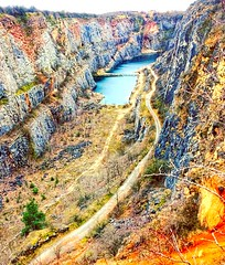 Czech Grand Canyon, Czech Republic (Prague In Four Seasons) Tags: landscape nature exploring world czech grand canyon view photography water blue colours rock grass