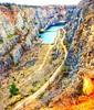 Czech Grand Canyon (Prague In Four Seasons) Tags: landscape nature exploring world czech grand canyon view photography water blue colours rock grass