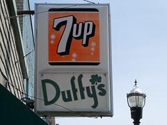 Flushing, MI downtown (army.arch) Tags: flushing michigan mi downtown sign 7up duffys