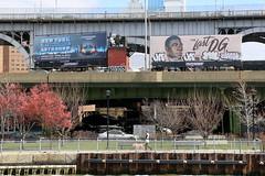ja rik mista (Luna Park) Tags: ny nyc newyork manhattan graffiti billboard takeover ja jaone jaxtc rikkgk mistakgk thelastog klops highway lunapark