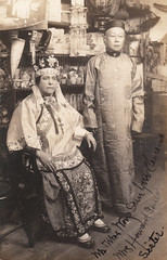Mr. and Mrs. Wong Sun Yue Clemens - San Francisco, California (The Cardboard America Archives) Tags: 1906 sanfrancisco vintage cityinruins 1907 disaster couple rppc california