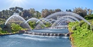 EUR Waterfalls panorama, Rome (Italy)
