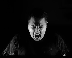 Scream II (NIKON 505) Tags: scream black white monochrome dramatic self portrait nikon d610 sigma 50mm f14