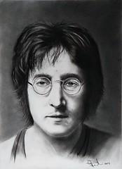 John Lennon (2) (GP1805) Tags: art artwork draw drawing drawings charcoal johnlennon thebeatles beatles derwent fabercastell winsorandnewton portraiture