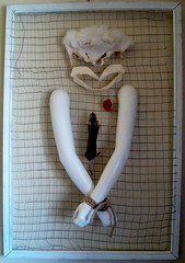 Johnny Hellion (Johnny Hellion) Tags: johnnyhellion fur pelt mannequin arms rope bone heart taxidermy rat wire shark jaw art