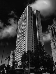 Skyscraper, Montreal, Quebec, Canada (duaneschermerhorn) Tags: architecture building skyscraper structure highrise architect modern contemporary modernarchitecture contemporaryarchitecture black white blackandwhite blackwhite bw noire noir blanc blanco schwartz weiss