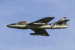Hawker Hunter T7 - 6 (NickJ 1972) Tags: shuttleworth collection oldwarden autumn airshow 2013 aviation hawker hunter t7 gbxfi wv372 r