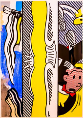Two Paintings, Dagwood (Thomas Hawk) Tags: america bayarea dagwood lichtenstein museum roylichtenstein sfbayarea sfmoma sanfrancisco sanfranciscomuseumofmodernart twopaintings usa unitedstates unitedstatesofamerica california us fav10