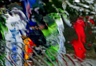 Water Art: Colourful rainy day abstract (+1)
