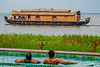 Front row seats (Aiel) Tags: kerala kumarakom alleppey alapuzha backwaters ktdc canon400d boat houseboat wake lake kayal swimming pool
