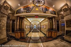 20180329_MASONIC HALL NYC_D85_6620 (Bonnie Forman-Franco) Tags: masonichall nyclandmark newyorklandmark masons freemasons nonhdr fisheyeimage hallway secretsociety fraternity photoladybon bonnie photography architecturalphotography