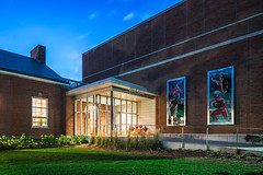 Cole Hall Entrance (Michael Muraz Photography) Tags: 2016 canada gta northamerica on ontario sac standrewscollege toronto world architecture aurora bluehour building college commercial dusk exterior highschool twilight ca