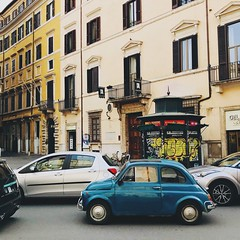 Traffic (Strunkin) Tags: rome italy traffic fiat 500