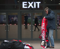 Scarfs at Old Trafford (Tony Worrall) Tags: city england regional region area northern uk update place location north visit county attraction open stream tour country welovethenorth nw northwest britain english british gb capture buy stock sell sale outside outdoors caught photo shoot shot picture captured manchester gmr outdoor oldtrafford street streetphotography urban candid people person picturesinthestreet photosofthestreet exit scarf seller sign sigange man