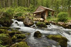 Old watermill at Gollinger Falls, Austria (Csaba K) Tags: forest water austria alps watermill longexposure flow stream wideangle landscape