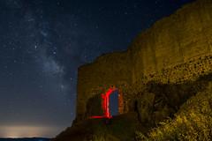 DSC_3758 (Jesus DTT) Tags: piedrabuena castillo miraflores nocturna lightpainting castle víaláctea milkiway