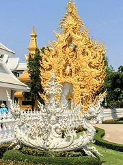 White Temple (cattan2011) Tags: 泰国 culture religious buddhism art whitetemple thailand traveltuesday travelphotography travelbloggers travel streetpicture streetphoto streetphotography streetart landscapephotography landscape