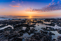 Sunrise at Sandy's (BBQMonster) Tags: hawaiil2015 nikond750 toddfburgess copyrightc2017toddfburgessallrightsreserved bluehawaiiphototours sunrise sunburst sunrisehawaii sun hawaii hawaii2017 dawn daybreak oceansunrise ocean nikonafsnikkor1424mmf28gedlens wideangle oahuphotography oahusunrise oahu sandybeachsunrise sandybeach sandybeachhawaii hawaiiansunrise hawaiiandawn hawaiiandaybreak sky beach beachsunrise waterreflection water sand d750 d750nikon d7503713edit3 sandys sandybeachparkhi sandybeachhi toddburgess