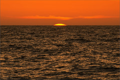 Orange, Brown and a Small Piece of Yellow - [Minimum] (milton sun) Tags: minimal minimalism seascape bay ngc bayarea wave ocean shore seaside coast california westcoast pacificocean landscape outdoor clouds sky water sunset colors red brown yellow