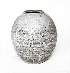 vase (amazingstoker) Tags: black glaze rough cracks still japanese vase japan monochrome white life crackle atsugi kanagawa high key