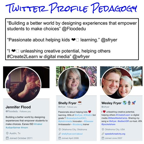 Twitter Profile Pedagogy by Wesley Fryer, on Flickr