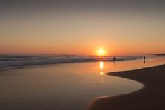 Fishermen (alideniese) Tags: landscape waterscape seascape 7dwf water ocean beach coastline shore fishermen men people silhouettes sunset sundown dusk evening sun sunshine reflection sand sea alideniese hazy sky phillipisland victoria australia woolamaisurfbeach