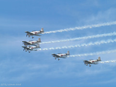 Team Raven (ExeDave) Tags: p6029768 team raven vans rv rv8 rv4 selfbuilt kit aircraft torbay airshow 2018 devon sw england gb uk display displaying formation five white turboprop