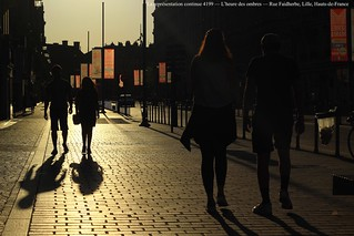La représentation continue 4199 — L'heure des ombres — Rue Faidherbe, Lille, Hauts-de-France