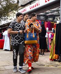 Ealing Road Market, Wembley (London Less Travelled) Tags: uk unitedkingdom england britain london wembley brent urban city people market colour fabric stall