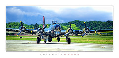 Aviation Day 2018 - 07 (J Michael Hamon) Tags: b17 flyingfortress bomber wwii plane airplane aircraft airport runway taxi widescreen aviationday columbusindiana indiana bartholomewcounty aviation transportation photoborder hamon nikon d3200 55300mm nikkor yankeelady bakalar bak outdoor june