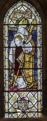 Scarborough, St Mary's church, Clerestory window (Jules & Jenny) Tags: scarborough stainedglasswindow stmaryschurch burlisongrylls