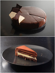 Ultime sliced (Pitzpootzim) Tags: chocolate vanilla pierreherme mousse cake layercake french patisserie bakery
