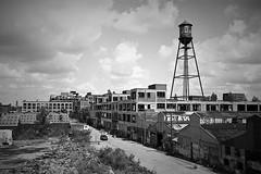 Former Packard Plant, Detroit (L55ZJNIT6B2KYV5V62Z4HAWSXZ) Tags: rangefinder bw film 35mm monochrome urban scanned ikon zeiss decay detroit graffitti