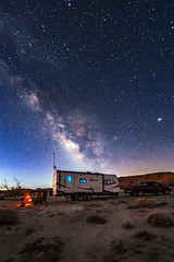 Camping Under the Milky Way At The Twilight's First Gleaming (slworking2) Tags: california unitedstates us milkyway vialactea desert anzaborrego anzaborregodesertstatepark doscabezas rv trailer camper camping