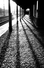 Light, Shadow and Stone (karstenphoto) Tags: filmphotography vintagecamera 35mm rangefinder eveninglight pushingfilm hp5pushed2stops hp5 ilfordhp5 ilford film analog filmisnotdead filmisalive leitz summicrondr dualrangesummicron dualrange summicron dr m3 leica stone light shadow berlin station train ubahn