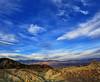 Desert sky (Robyn Hooz (away)) Tags: zabrieskie point punto deathvalley valledellamorte california usa desert cielo sky blue deserto colori adventure