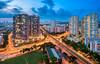 Crossroad (leslie hui) Tags: hdb sonya7rii singapore cityscape sonyalpha bluehour city publichousing