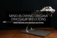 Mind-Blowing Origami Dinosaur Skeletons (Origami.me) Tags: origami diy papercraft papercrafts paper craft crafts fold folding dinosaur dinosaurs skeleton skeletons skull skulls