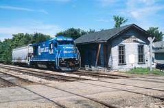 On Our Way to Carrollton (jwjordak) Tags: crossbuck 4097 b237r gradecrossing ohic station cr conrail ohirail train eastcanton ohio unitedstates us