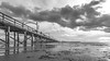 White Rock Pier (RussellK2013) Tags: whiterock canada britishcolumbia sea scene scenery scenicsnotjustlandscapes scape scenic pier seascape water beach clouds cloud sky sca outdoor nikon nikkor nature nationalgeographic blackandwhite bw