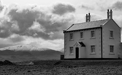 House with a view (mandysp8) Tags: blackpoint cymru beaumaris house snow anglesey northwales clouds canon eos