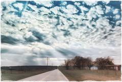 A little place.... (Sherrianne100) Tags: landscape clouds bigsky scene fence ruralamerica rural missouri