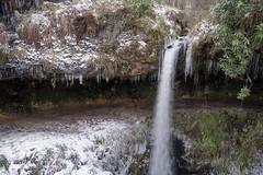Maspie Den (ShinyPhotoScotland) Tags: maspie fife drone djiphantom4 hdr waterfall frozen icicles ice landscape motion blur rock snow winter cold serifaffinityphoto water scotland
