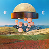 tsm (woodcum) Tags: moon sky sphere abstract color surreal collage retro vintage grain field
