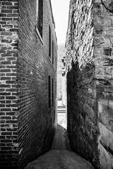 Alley (JCTopping) Tags: stone 6d ghosttown thurmond 19mm train brick tracks westvirginia canon blackandwhite alley rail unitedstates us
