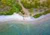 Up (Nick Frantzeskakis) Tags: sea shore green blue canoe drone view up above fly messinia episkopi peloponnese aerial chrani greece beach transparent dji mavic