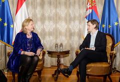 Karin Kneissl trifft die serbische Premierministerin Ana Brnabić